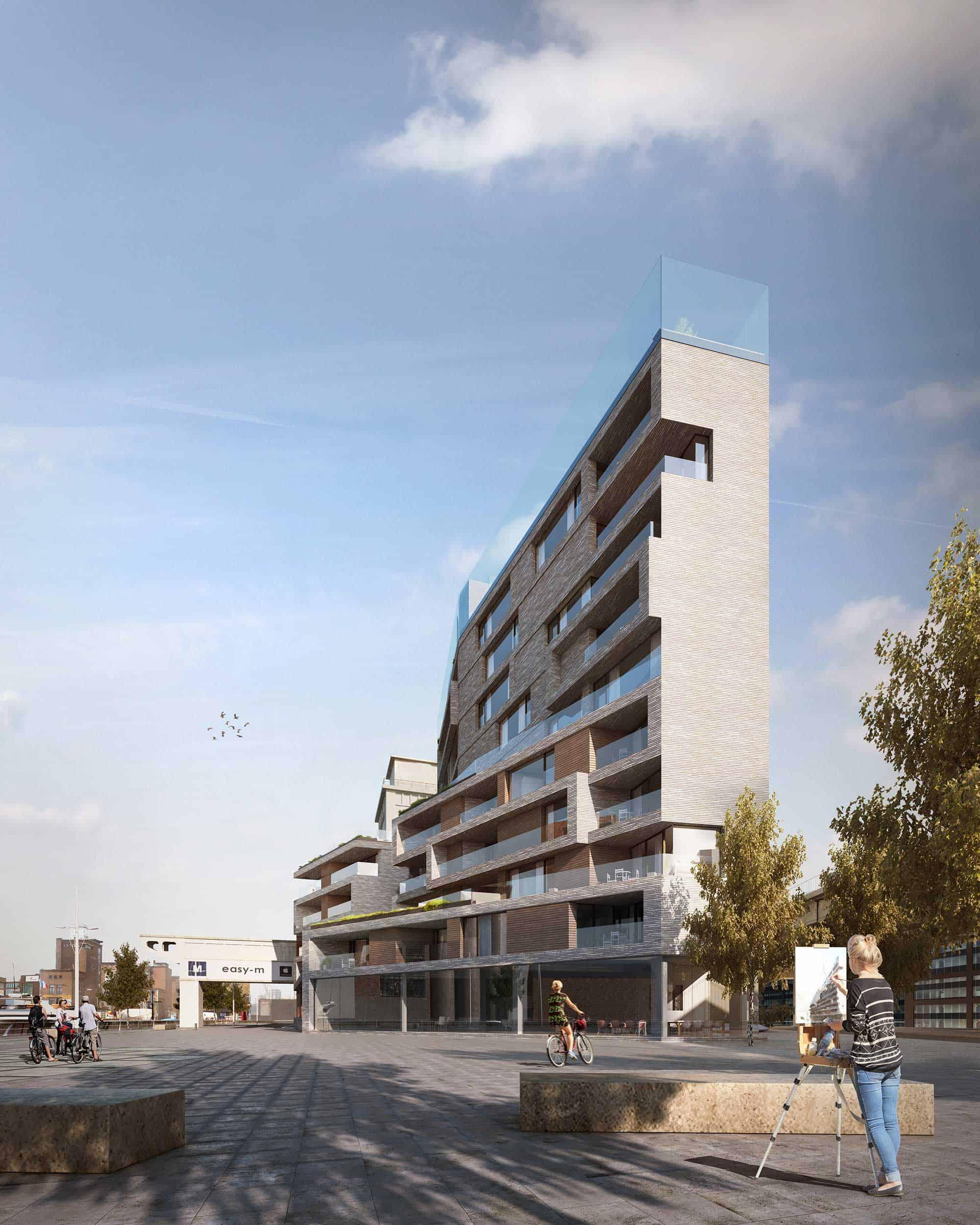 """Sky One in Leuven bij 50 genomineerden voor internationale architectuurprijs """"Brick Award 22""""."""
